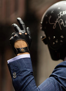 The Suited Racer x Dents Touchscreen Leather Driving Gloves