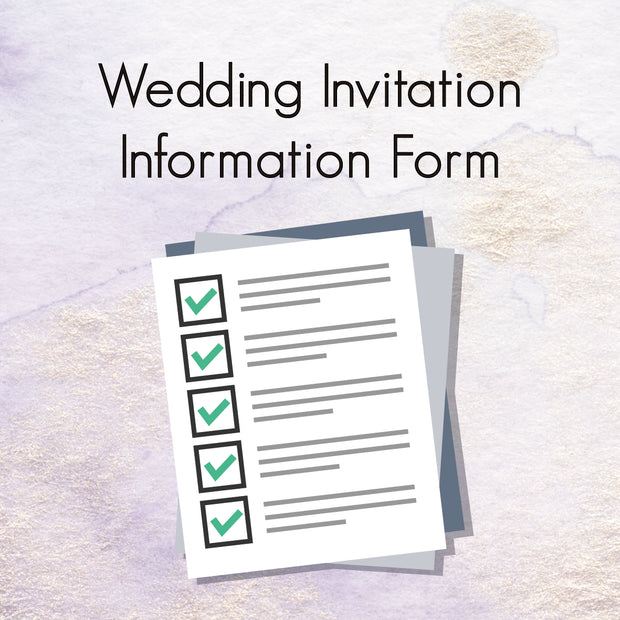 WEDDING INVITATION INFORMATION FORM - Wforwedding
