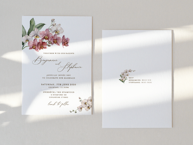 Wedding Invitation Card--933FD-orchid