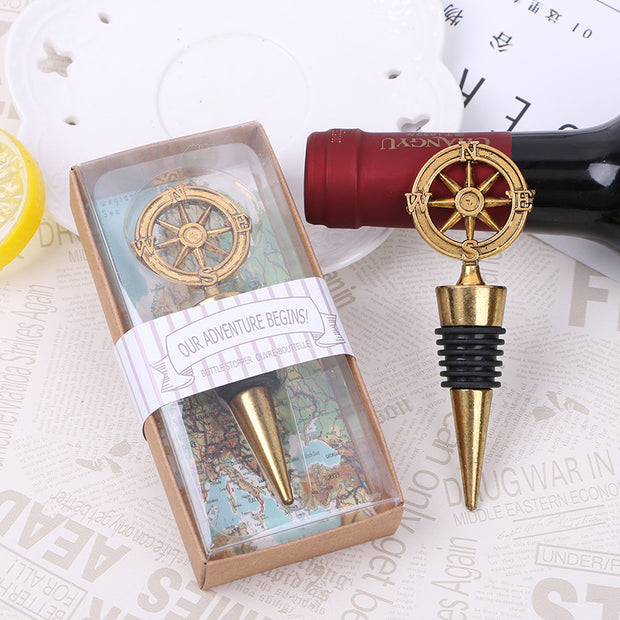 AFF310--Wine Stopper Wedding Favor Nautical - Wforwedding