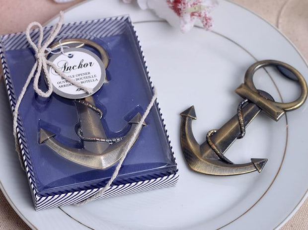 AFF326--Bottle Opener Wedding Favor Anchor - Wforwedding