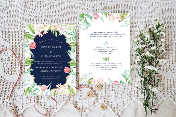 Wedding Invitation Cards--319FD-Garden - Wforwedding