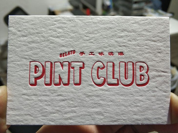 PA202- Cotton Paper Letterpress Business Card