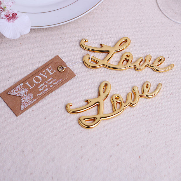 AFF327--Bottle Opener Wedding Favor Love - Wforwedding