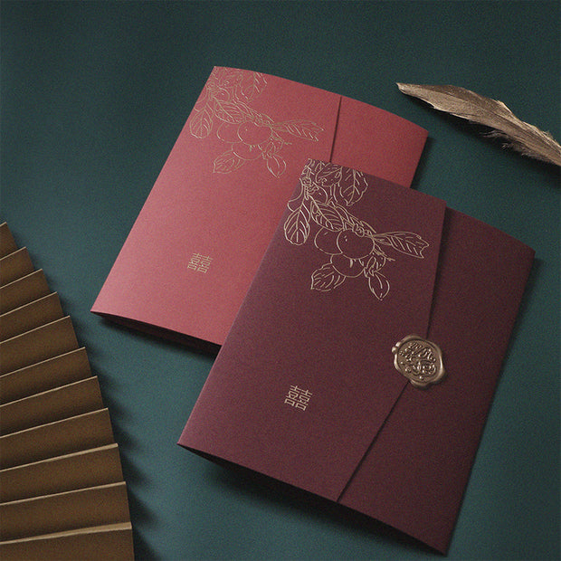Chinese Wedding Invitation Card-226YC