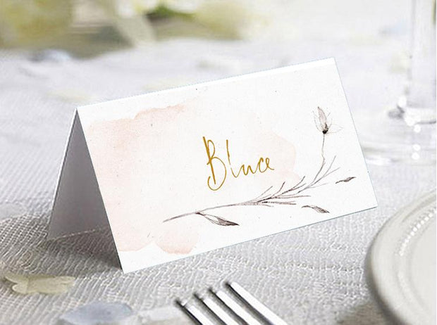 Place Card , Wedding Name Tent--325PC - Wforwedding