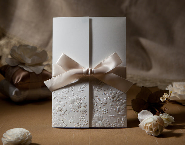Wedding Invitation Cards--1113W-White - Wforwedding