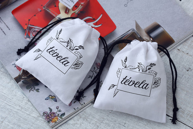 AFF147--Personalized Canvas Party Favor Bags - Wforwedding