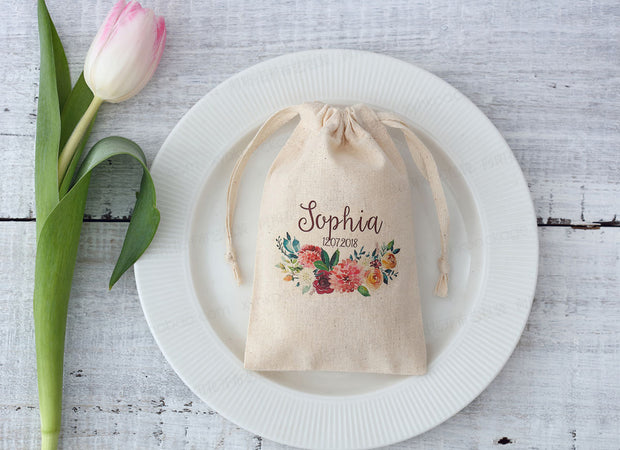 AFF140--Personalized Drawstring Pouch - Wforwedding