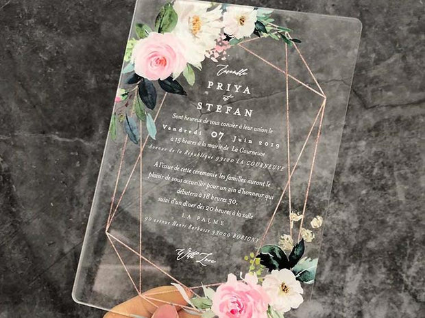 Wedding Acrylic Invitation Card--733AC - Wforwedding