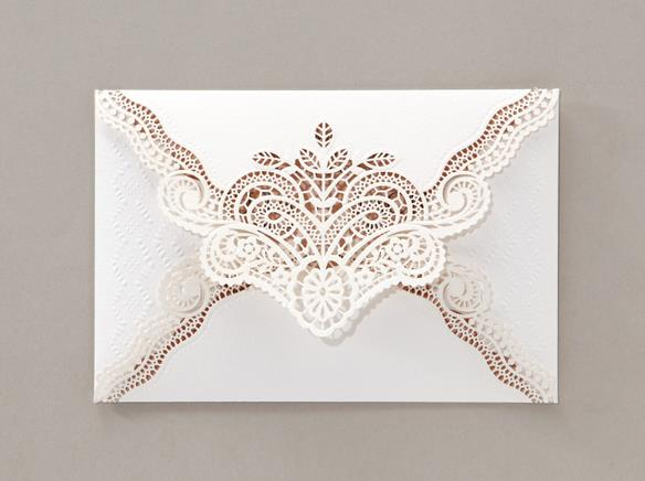 Wedding Invitation Card--6023BD-Elegant white - Wforwedding