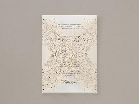 Wedding Invitation Card--6045BD-Laser White - Wforwedding