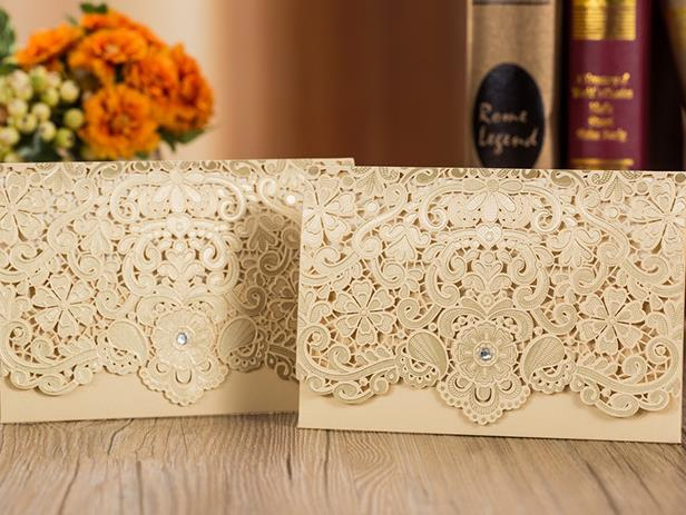 Wedding Invitation Cards--230YC-Gold Diamond - Wforwedding
