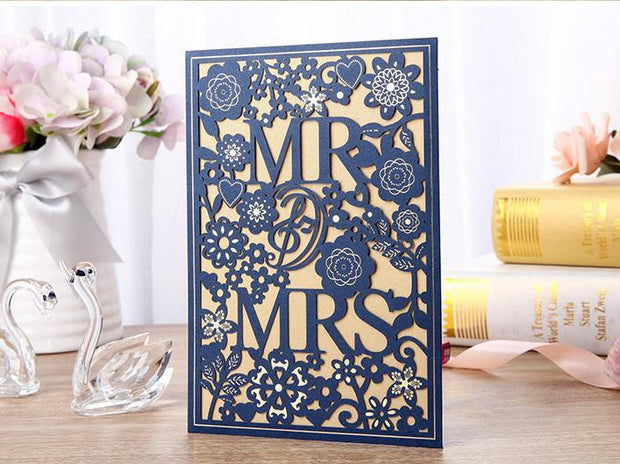 Wedding Invitation Cards--241YC-Navy - Wforwedding