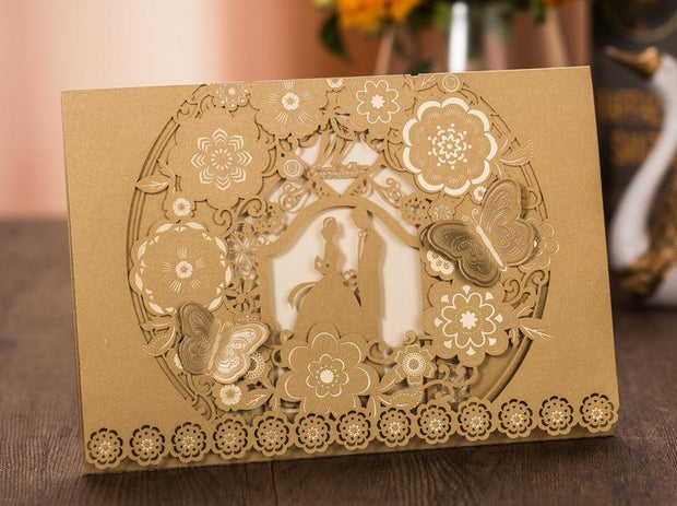 Wedding Invitation Cards--359YC-Gold - Wforwedding