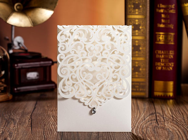 Wedding Invitation Card--5001CW-Diamond White - Wforwedding