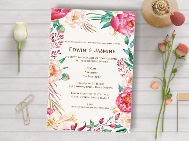 Wedding Invitation Cards--930FD - Wforwedding