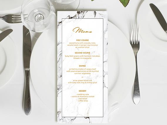Wedding Menu card--424MN - Wforwedding