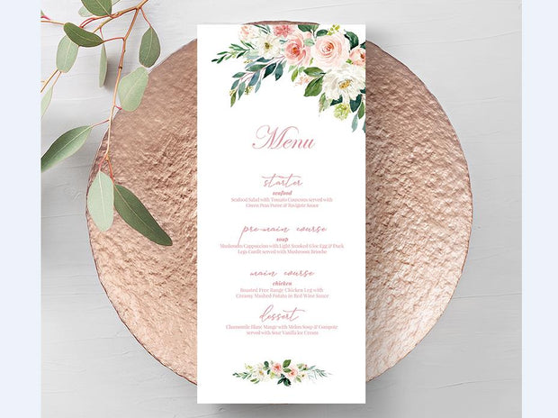 Wedding Menu card--425MN - Wforwedding