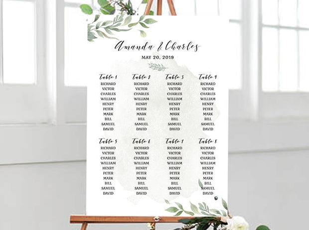Wedding Signage, sitting plan--112BD - Wforwedding