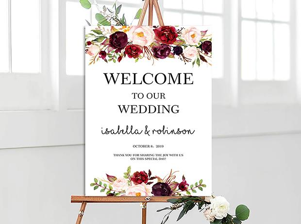 Wedding Signage, welcome board--101BD - Wforwedding