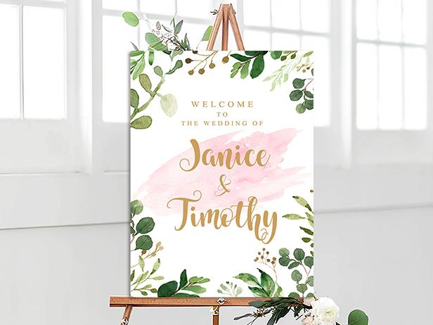 Wedding Signage, welcome board--105BD - Wforwedding