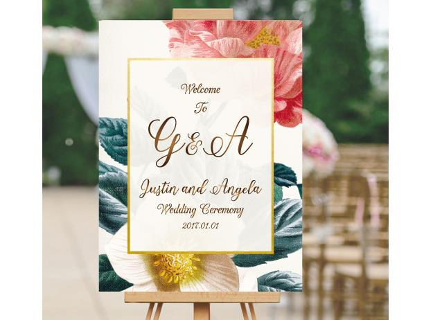 Wedding Signage, welcome board--113BD - Wforwedding