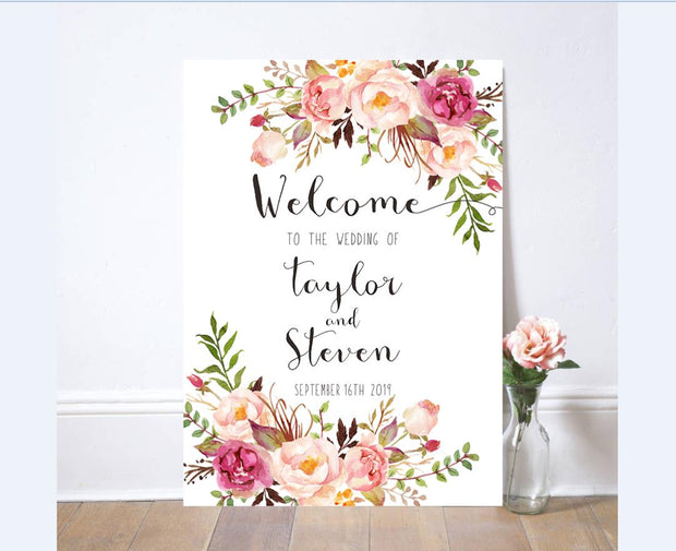 Wedding Signage, welcome board--121BD - Wforwedding