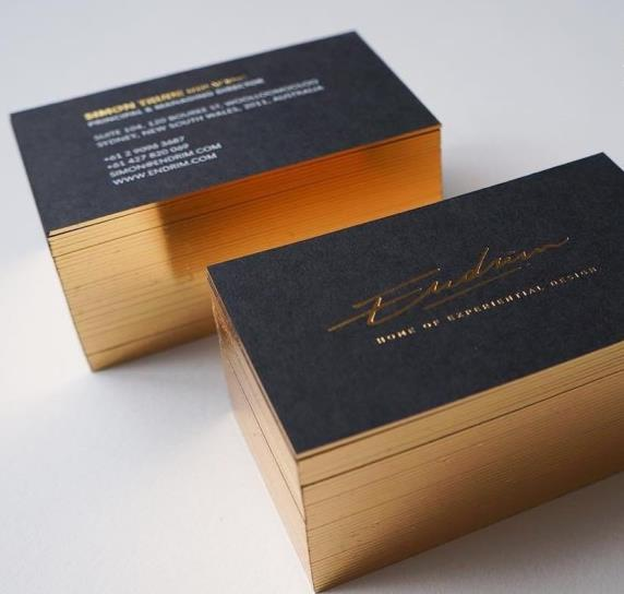 PA201-Ultra Thick Business Card with Golden Edge Gilded