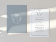 Wedding Invitation Card--423FD-Monogram
