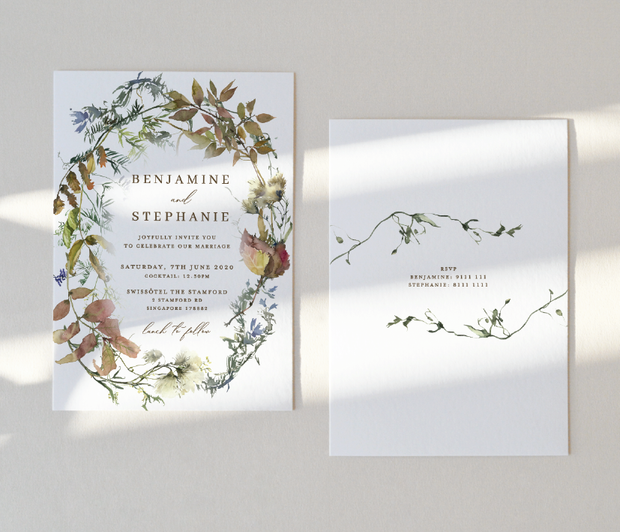 Wedding Invitation Card--401FD-Wild Flower
