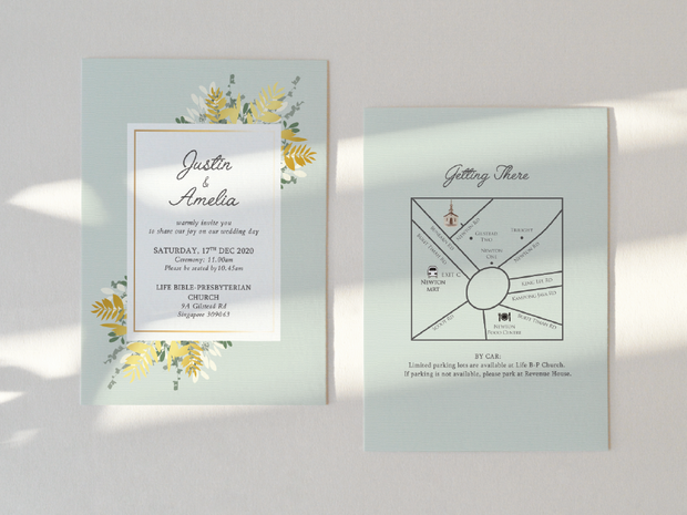 Wedding Invitation Card-455FD
