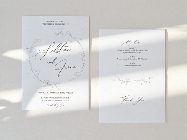 Wedding Invitation Card--606FD
