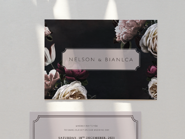 Wedding Invitation Card--990FD-Dark