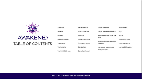Table of Contents Slide