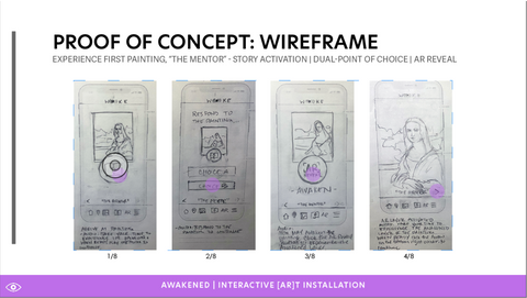 Proof of Concept Hand Drawn Wireframes