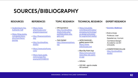 Sources and Bibliography Slide