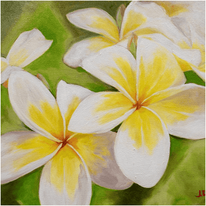 """Plumeria Morning"" Giclee Art Print"