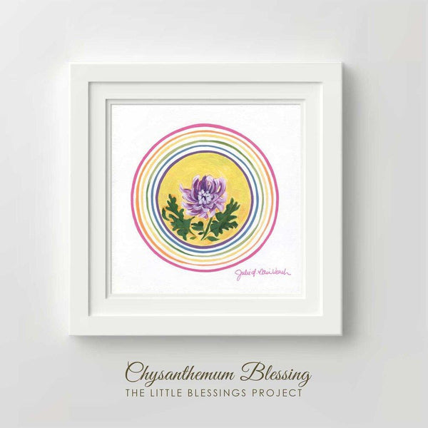 """Chrysanthemum Blessing"" - Fine Art Print by Julie Davis Veach"