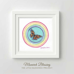 Monarch Butterfly Blessing - Fine Art Print