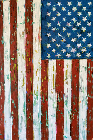 """American Confetti"" 24x36"" Original on Canvas by artist Julie Davis Veach"