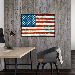 """American Confetti"" 24x36"" Original on Canvas by artist Julie Davis Veach displayed in a contemporary office space."