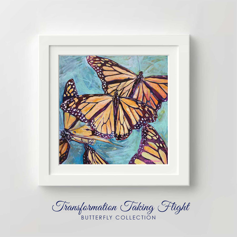 """Transformation Taking Flight"" Framed Art Print"