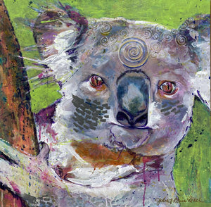 """Voice of the Koala"" 20x20"" Original on Canvas"