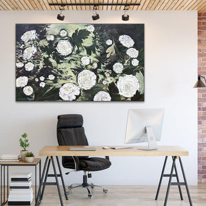 "Zion's Dawning Dahlias Original Painting 36x60"" Large Canvas"