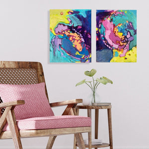 """Mauritius"" 11x14"" Diptych Set Originals on Canvas"