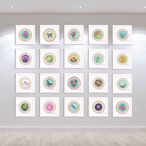 The Little Blessings Project displayed in a contemporary gallery space