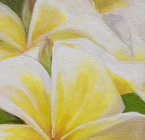 """Plumeria Morning"" 11x14"" Original on Canvas by Julie Davis Veach painting detail"