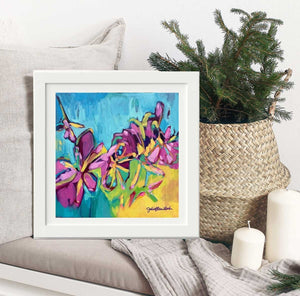 """The Golden Hour"" Framed Art Print by Julie Davis Veach displayed in contemporary interior"