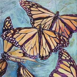 """Transformation Taking Flight"" Original 36x36"" on Large Canvas by Julie Davis Veach"